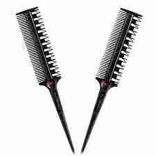 snaketooth combs for hair highlighting.