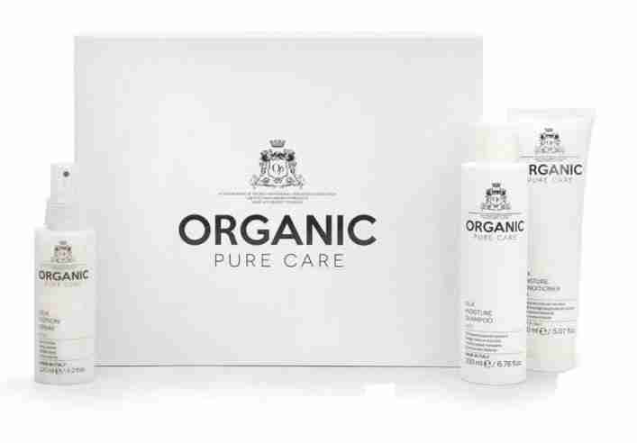 Organic Pure Care silk hair care products