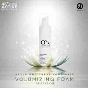 Volumising foam with Tsubaki oil