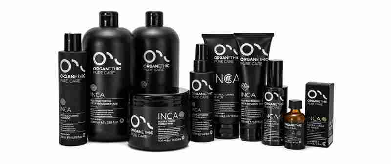 Organethic Pure Care Inca Restructuring hair care line